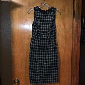Anthropologie Plaid Corduroy Dress